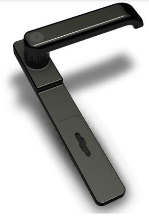 Securemme-5201 tollas kulcsos portálzár rozettás kilincs