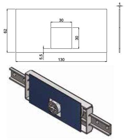 Secremme - 7122 fúrásvédő mangánacél lemez