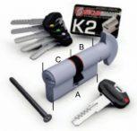 K2 - P forgatógombos zárbetétek