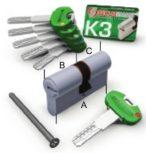 """Securemme K3  Professzionális """"EURO"""" hengerzárbetét sorozat"""